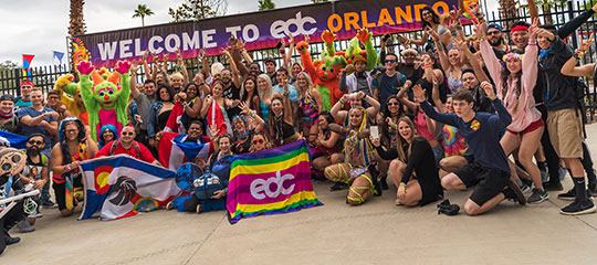 Happy Headliners at the gates of EDC Orlando