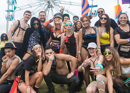 A crew of happy Headliners at EDC Orlando