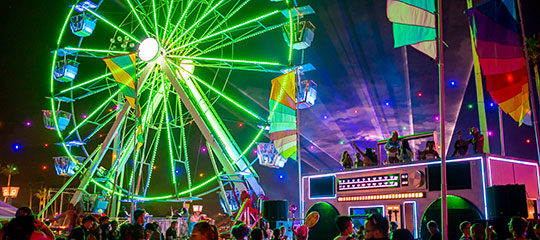 Ferris wheel and Boombox Art Car