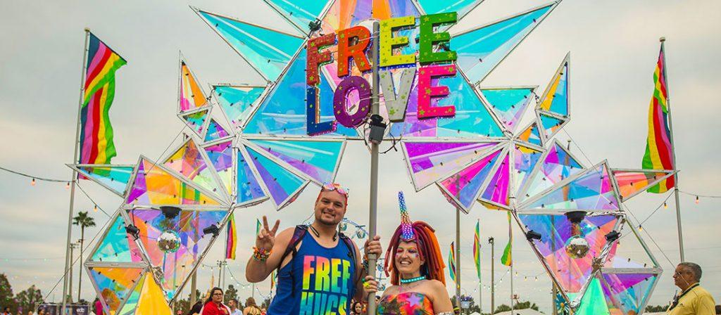 Free Love totem at EDC Orlando