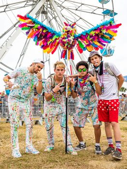 Four Headliners with a colorful owl totem