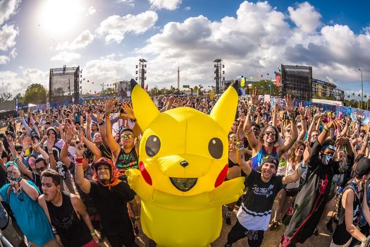 A Headliner in a Pikachu costume