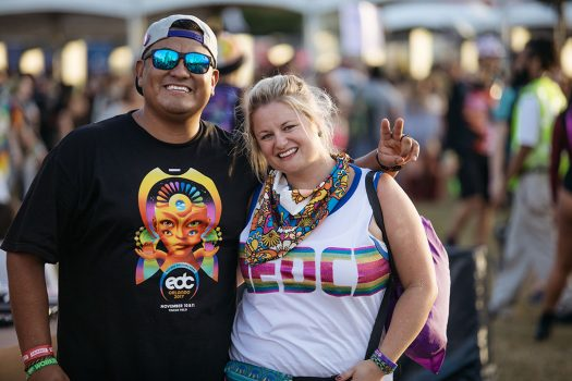 Two Headliners in EDC shirts
