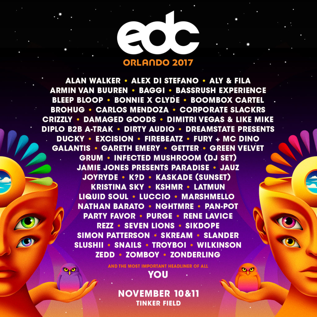 EDC Orlando 2017 Lineup
