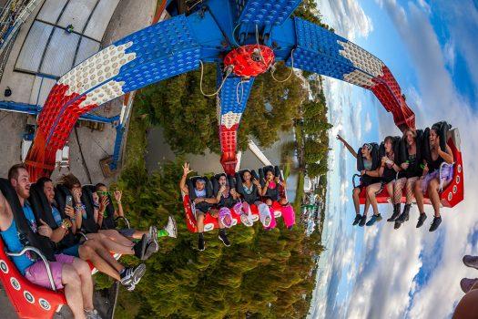 Headliners enjoy a full-size carnival ride