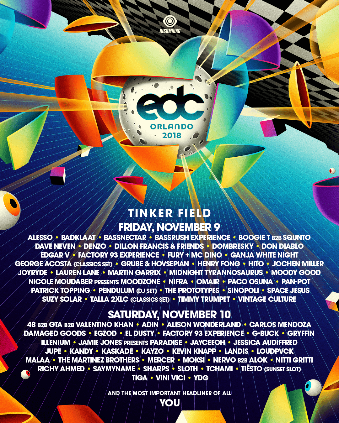 EDC Orlando 2019 Lineup by Day