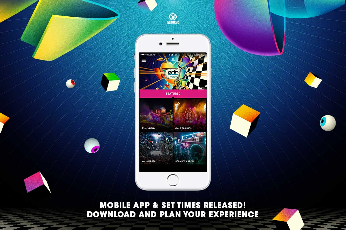 EDC Orlando 2018 Mobile App & Set Times Released