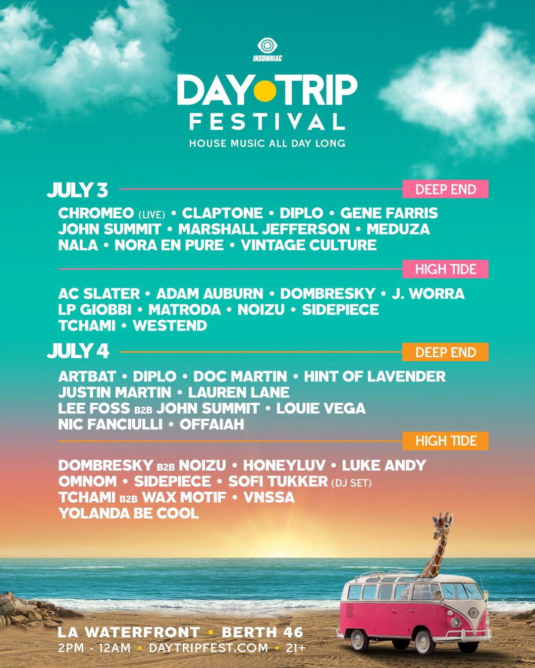 day trip festival lineup