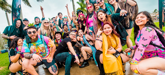 festivalgoers posing for a pic