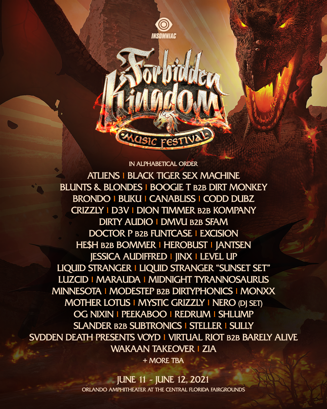 Forbidden Kingdom Lineup