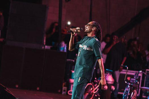 Snoop performs onstage