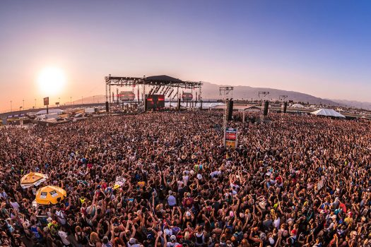 A massive crowd in front of the stage