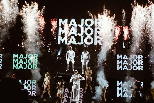 Major Lazer performing