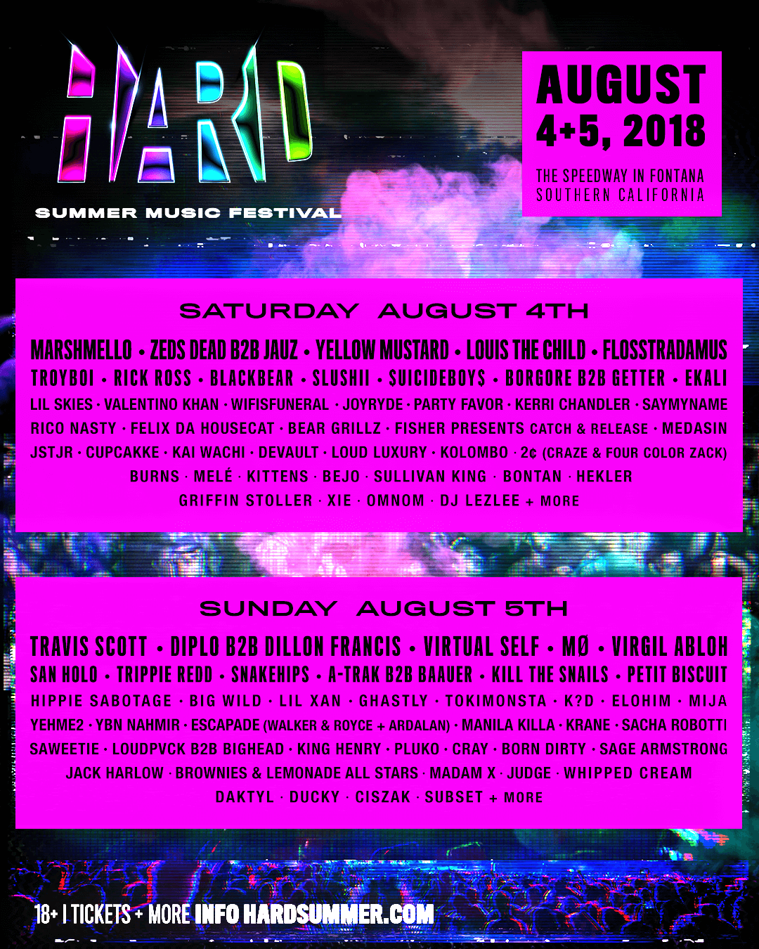 Hard Summer Lineup Flyer