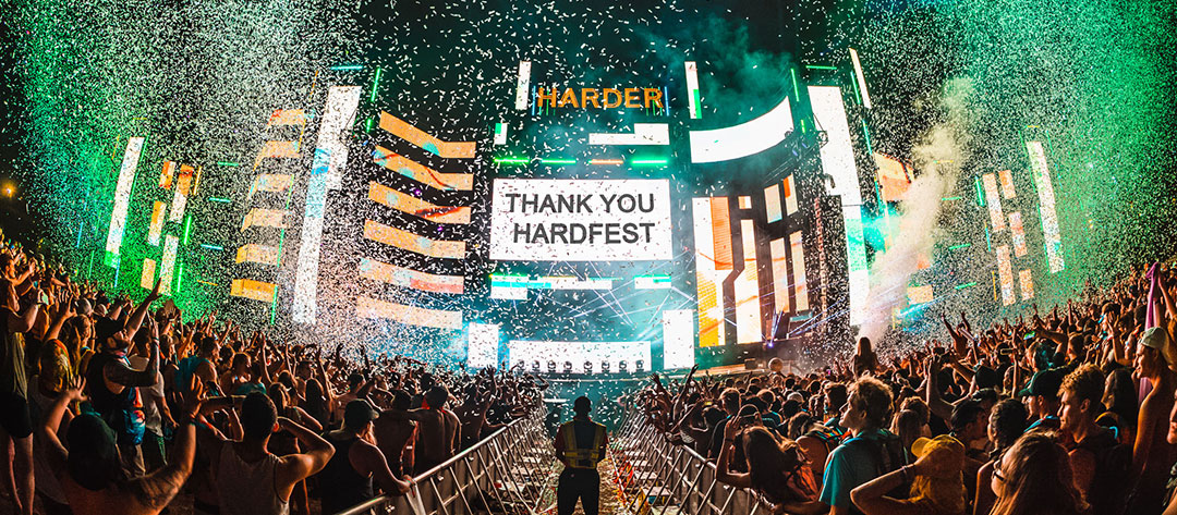 """Thank You Hardfest"" sign"