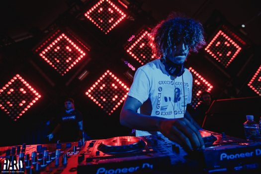 A DJ on the decks