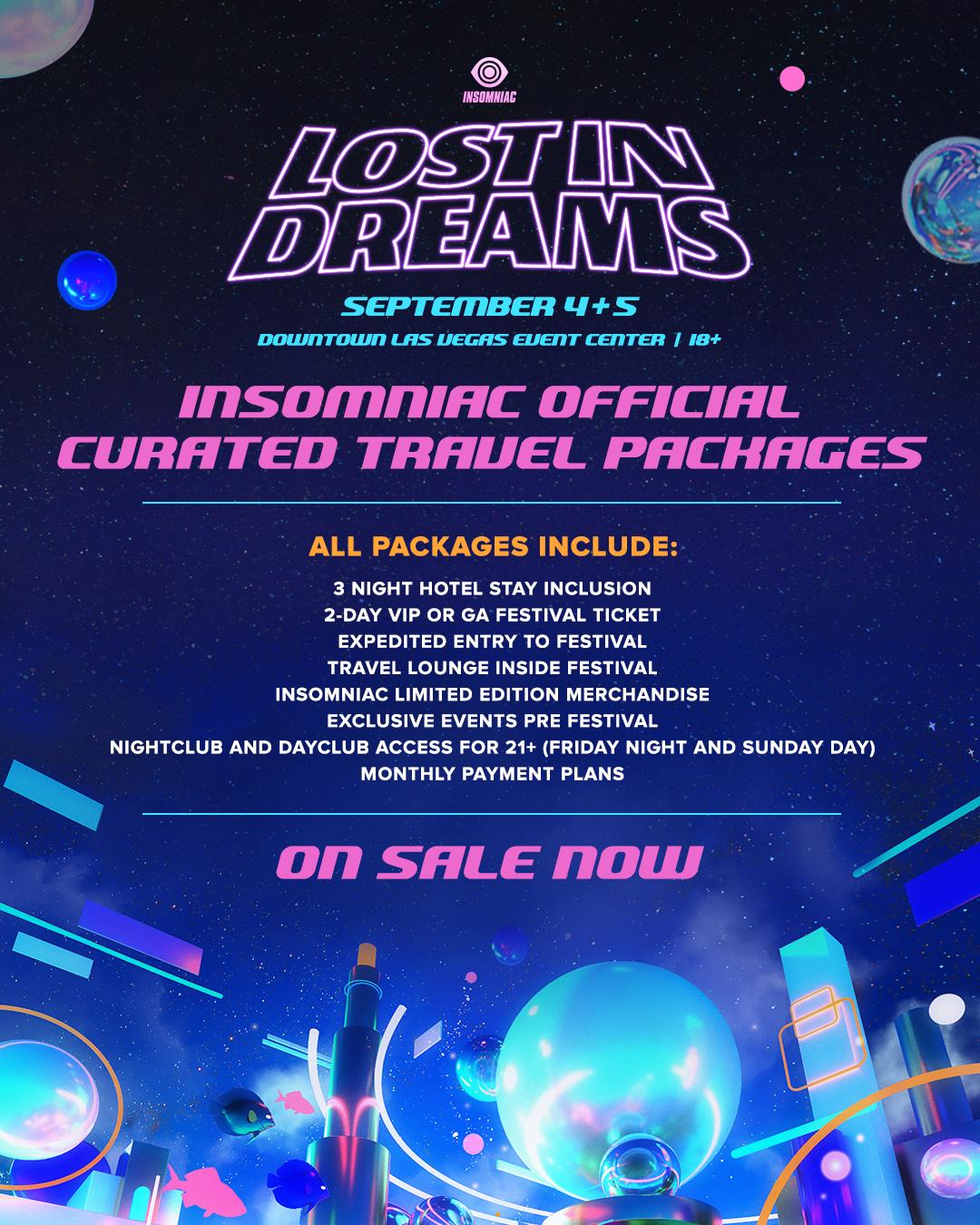 lost in dreams hotel packages