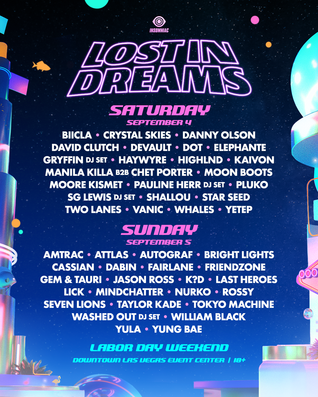 lineup by day