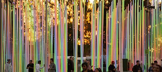 Rainbow art installation
