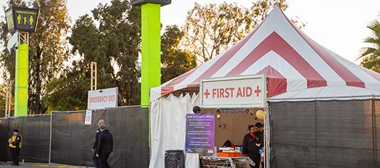 First aid tent